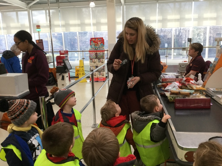 Nursery visit to Sainsbury's