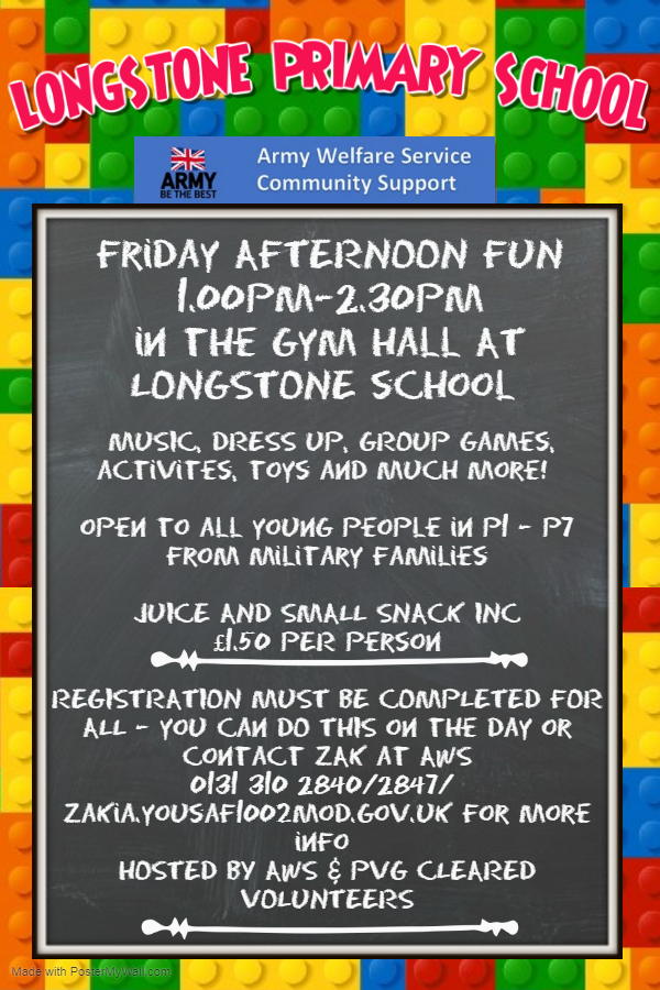 Longstone Friday Afternoon Fun Group Poster